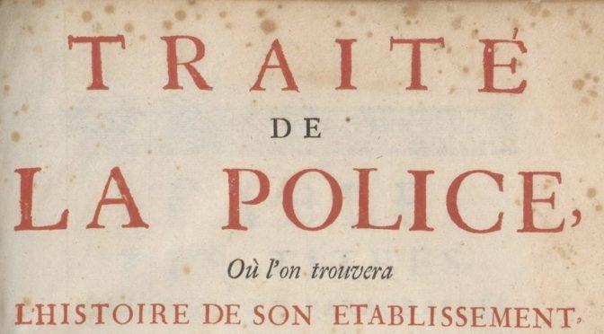 La réglementation des jeux au XVIIIe siècle : le Traité de la police de Nicolas de La Mare