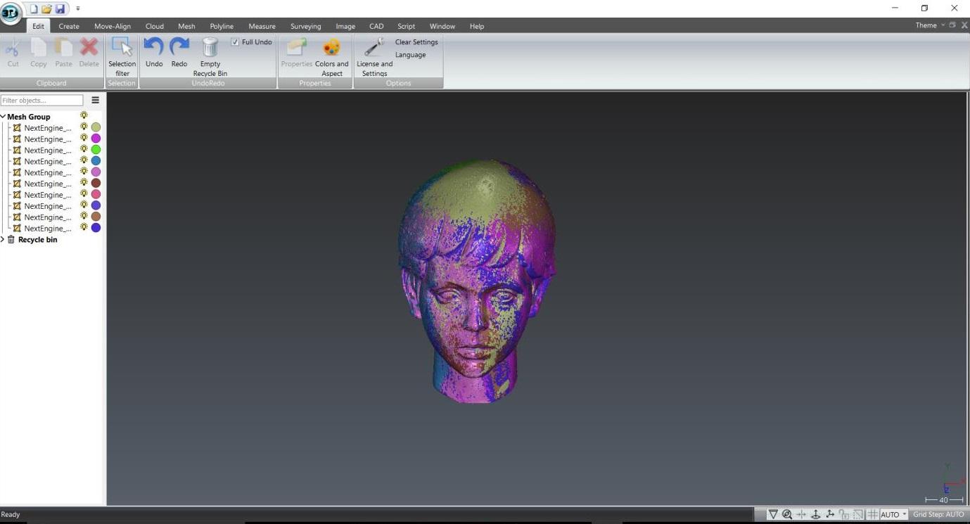 3D Reshaper - Mesh group