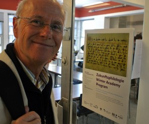 """Stefan Leder (German Orient Institute Beirut) before his lecture on """"Arabic Philology and the Conquest of Foreign Languages: Script, Language and Cognition (11th – 12th centuries)"""""""
