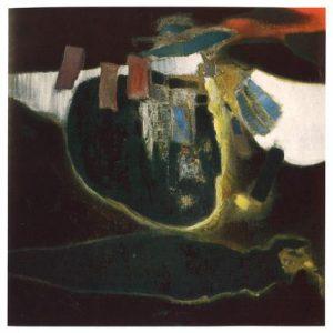 Manabu Mabe, Pedaço de luz, 1959, 130 x 130 cm, © Instituto Manabu Mabe