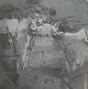 Danilo di Prete. Painting no. 1, c. 1964. Mixed media painting technique. Measures and collection are unknown