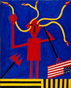 Abdias do Nascimento, Exu Black Power #2 (Homage to Ruben Gerchman), 1971