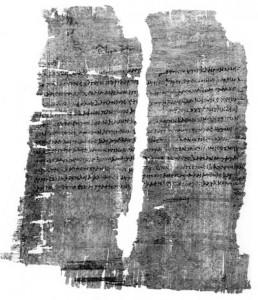 Fig. 6 : Papyrus de Cléopâtre.