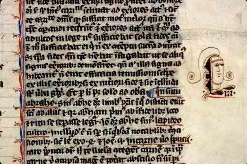 Angers, BM, ms. 208, f. 9. Petrus Lombardus, Sententiae.