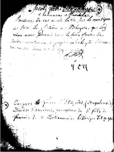 Musica libris quatuor demonstrata Jacques Lefèvre d'Étaples (1450?-1536), BnF.