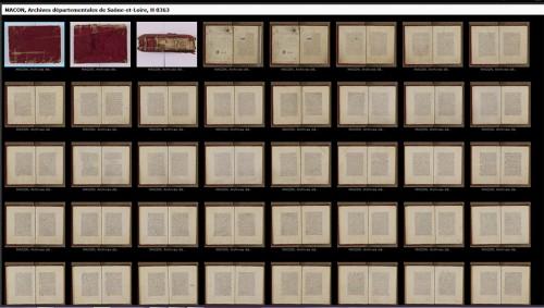 Capture d'écran de la recherche sur la BVMM avec le nouvel outil de visualisation.