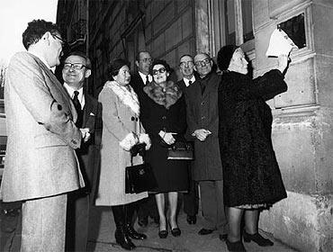 Photo 9 : Inauguration par Madame Grat du Centre Felix-Grat, 40 avenue d'Iéna, Paris le 6 décembre 1978.