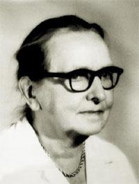 Photo 2 : Jeanne Vielliard († 1978), directrice de l'IRHT (1940-1964).