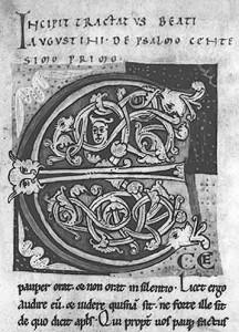 Valenciennes, bibliothèque municipale, ms. 41, f. 2, Manuscrit de Saint Amand-en-Pevèle : St Augustinus, Opera.