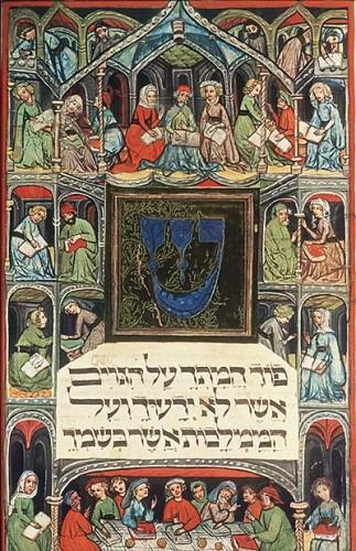 Darmstadt haggadah, Hessische landes und-Hochschulebibliothek, Cod. Or. 8 : haut ou moyen Rhin, 1420-30 ou c. 1450.