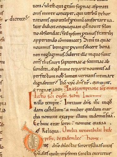 Cambrai, Bibl. mun., ms. 530, f. 116. Lectionnaire de l'office (partie d'été : lectures patristiques et hagiographiques), Nord de la France ? seconde moitié du XIe s.