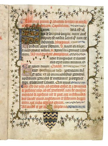 Avignon, Bibl. mun., ms. 177, f. 9. Collectaire d'Avignon, Provence ? 1396.