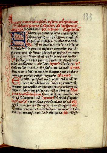 Paris, Bibl. Mazarine, ms. 363, f. 133. Collectaire célestin, Paris ? second quart du XVe s.