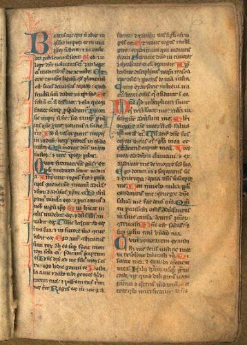 Paris, Bibl. de l'Université, ms. 1220, f. 6. Bréviaire de Paris, Paris ? premier quart du XIIIe s.