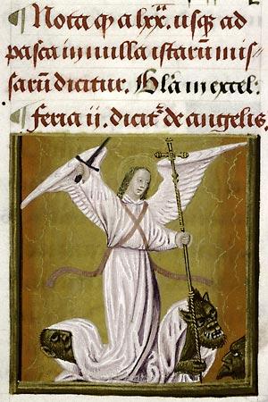 Douai, Bibl. mun., ms. 91, f. 83v, Missel de l'abbaye d'Anchin. Gand, premier quart du XVIe s.