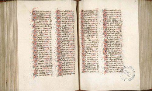 Amiens, Bibl. mun., ms. 114, f. 255v-256. Bréviaire de Paris, Paris, fin du XIVe s.