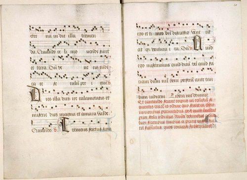 Amiens, Bibl. mun., ms. 189, f. 19v-20. Ordines et processionnal festif à l'usage de l'abbaye de Val Notre-Dame, Nord de la France ? première moitié du XVIe s.