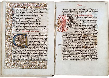 Valenciennes, Bibl. mun., ms. 136, f. 7v-8. Constitutions de Bursfeld, Nord de la France ? première moitié du XVIe s.