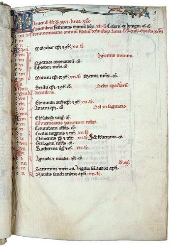 Troyes, Bibl. mun., ms. 850, f. 3. Bréviaire cistercien, Nord-est de la France ? dernier quart du XIIIe s.