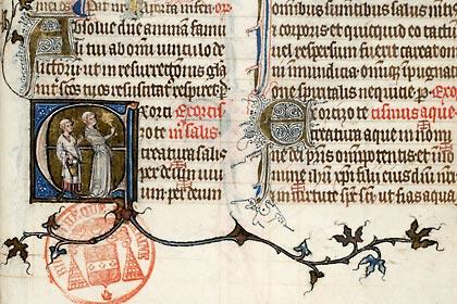 Paris, Bibl. Mazarine, ms. 419, f. 236. Missel de l'abbaye Montier-en-Der, Paris, vers 1335.