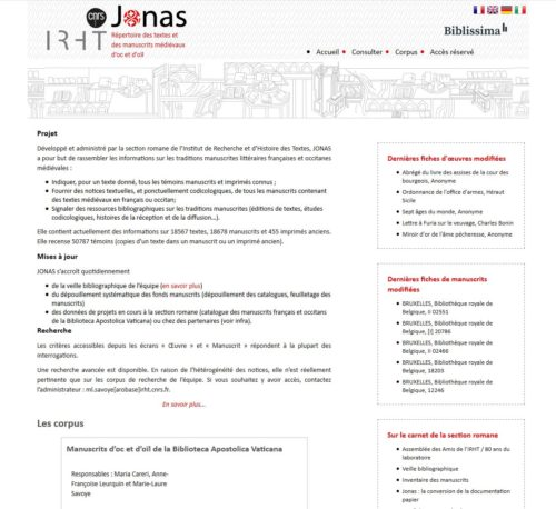 Base de données Jonas