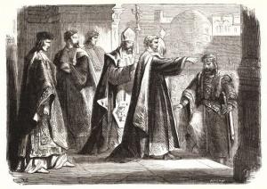 Ambroise et Théodose, dessin de 1866