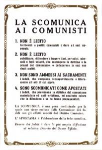 Scomunica ai comunisti, 1