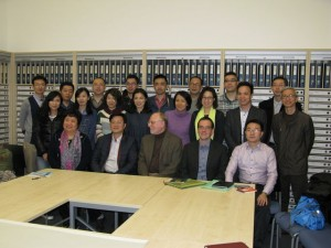 Gruppenfoto mit den Gästen aus Shanghai