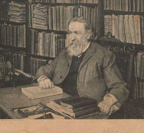 Ernst Mach in seinem Wiener Arbeitszimmer