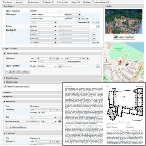 Visualisierung des geplanten digitalen Dehio-Handbuchs