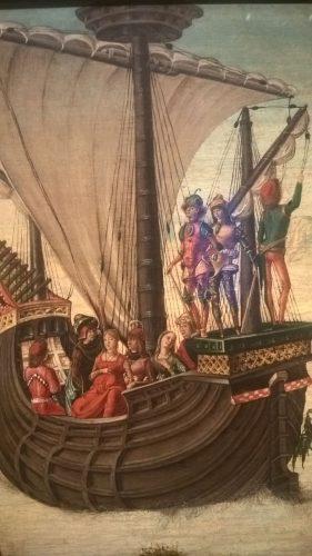 Los Argonautas abandonan la Cólquida. Ercole de Roberti (Ferrara, c. 1450-1496). Procedencia: Museo Thyssen Bornemisza. Foto: María Zozaya