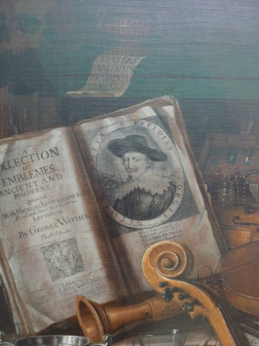 Bodegón con emblema de Wither´s, Edward Collier Victoria And Albert Museum. Foto: Maria Zozaya