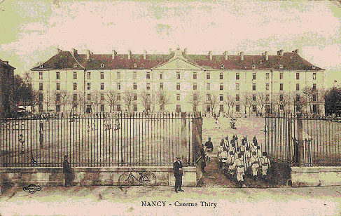 "Caserne Thiry. Pierre Boyer Collection , ""Nancy Hier"""