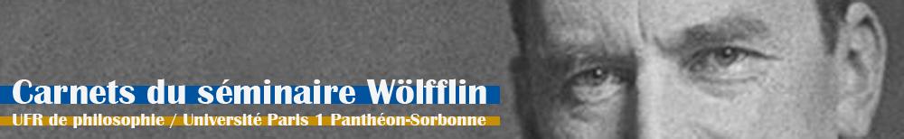 Carnets du séminaire Wölfflin
