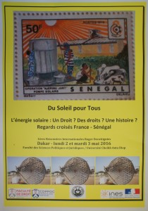 Journées de Dakar 2 et 3 mai 2016