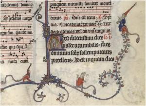 Bréviaire de Renaud de Bar (ca. 1302), Verdun, BM, Ms. 107, folio 282r. ©Service des Bibliothèques de la Communauté d'Agglomération du Grand Verdun