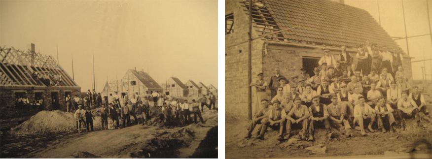 1934 erfolgte der erste Spatenstich zur Anlage der nationalzozielistischen Mustersiedlung in Braunschweig-Lehndorf. In der Folgezeit besuchte Hitler selbst eines der Musterhäuser.