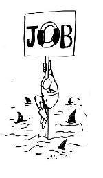 Dessin sur la lutte des travailleurs de l'entreprise JOB