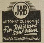 Publicité de presse pour le papier à rouler Job (1949)