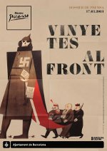 """Affiche de l'exposition """"Vinyetes al front"""", Musée Picasso, Barcelone"""