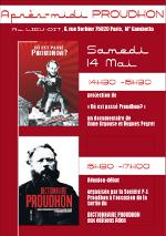 Affiche de l'après-midi Proudhon au bar-restaurant Le Lieu Dit