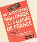 """""""Manufrance"""", Affiche confédérale de la CGT, février 1993"""