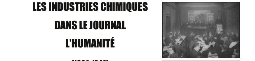Les industries chimiques dans la journal «L'Humanité» (1904-1940)