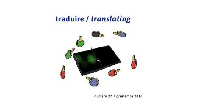 «Traduire» : lancement d'Intermédialités #27 au Port de tête, mardi 7 novembre, 18h