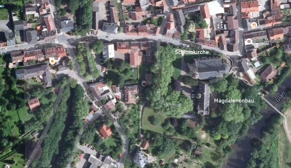 Meisenheim, Übersichtsplan (Google Maps)