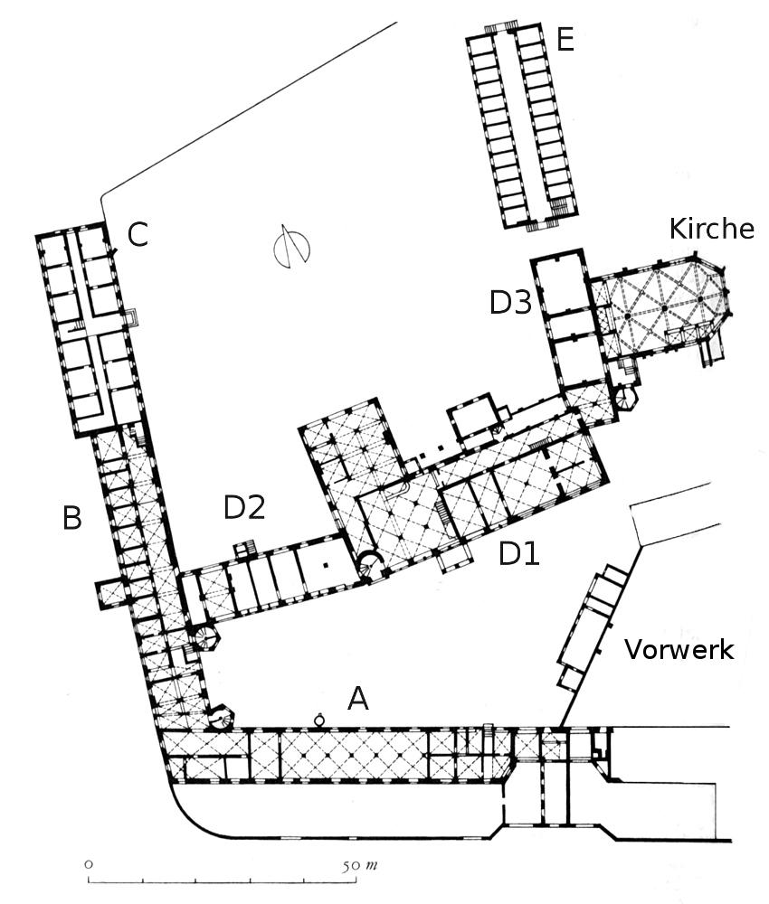 Schloss Lichtenburg, Grundriss