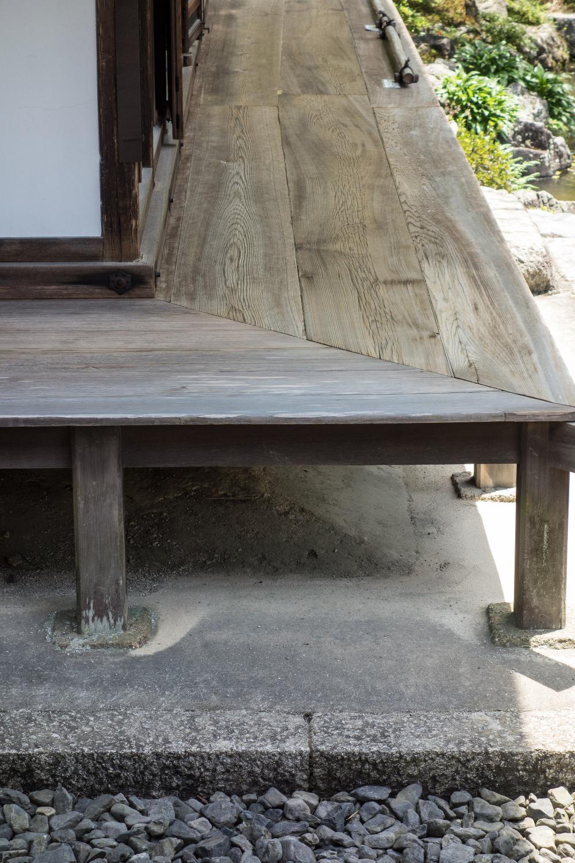 Kyoto, Ginkaku-ji, der Tōgu-dō, ein Nebenpavillon für Yoshimasa mit Verbindung zum Garten, um 1482