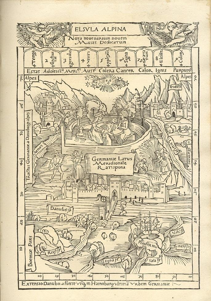 Meister der Amores, Regensburg, Originalausgabe von 1502, Digitalisat der Universität Mannheim, online unter: http://www.uni-mannheim.de/mateo/camena/celtis1/jpg/s049.html, aufgerufen am 15.12.2016