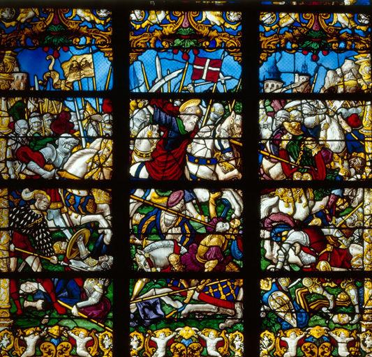Vitrail de saint Jacques, Notre-Dame d'En Vaux