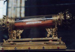 Liège, reliquaire du bras de saint Jacques, détail